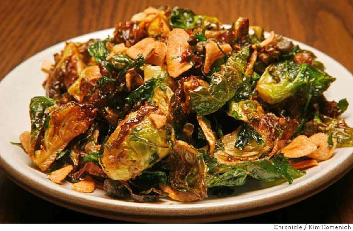 d.16SPQR_026_KK.JPG SPQR is the new Roman-inspired restaurant on Fillmore near Bush. It features Brussels sprouts with garlic, capers, lemon and parsley. Photo by Kim Komenich/The Chronicle **