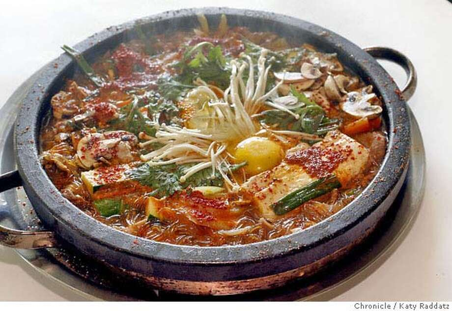 d.02_SUITOFU  Beef and Baby Octopus Soup at the Korean restaurant named Sui Tofu, at 2777 El Camino Real, Santa Clara, CA. These pictures were made on Monday Nov. 5, 2007, in Santa Clara, CA.  KATY RADDATZ/The Chronicle Photo taken on 11/5/07, in Santa Clara, CA, USA Photo: KATY RADDATZ
