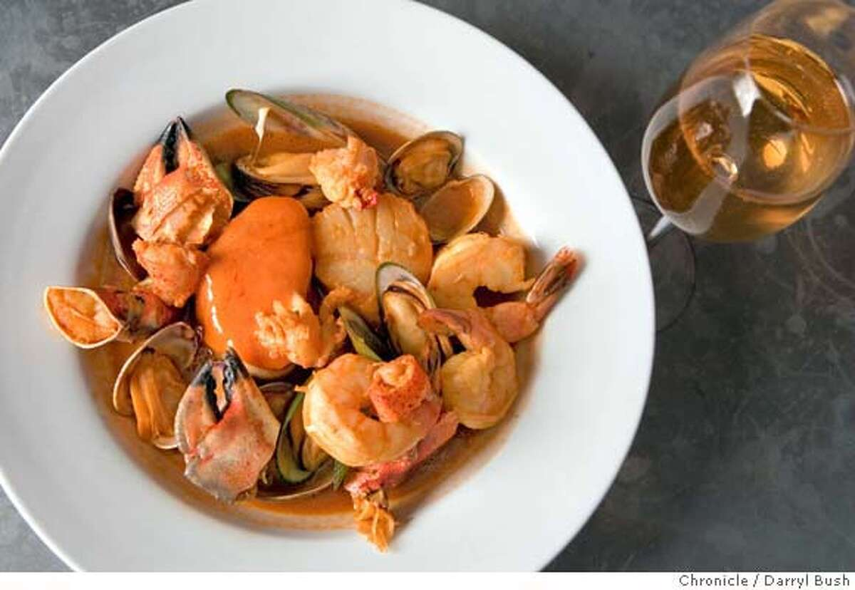 � d.20_cav_0003_db.JPG Seafood stew at CAV, a wine bar and kitchen on Market St in San Francisco, CA, on Friday, April, 27, 2007. photo taken: 4/27/07 Darryl Bush / The Chronicle ** (cq) MANDATORY CREDIT FOR PHOTOG AND SF CHRONICLE/NO SALES-MAGS OUT