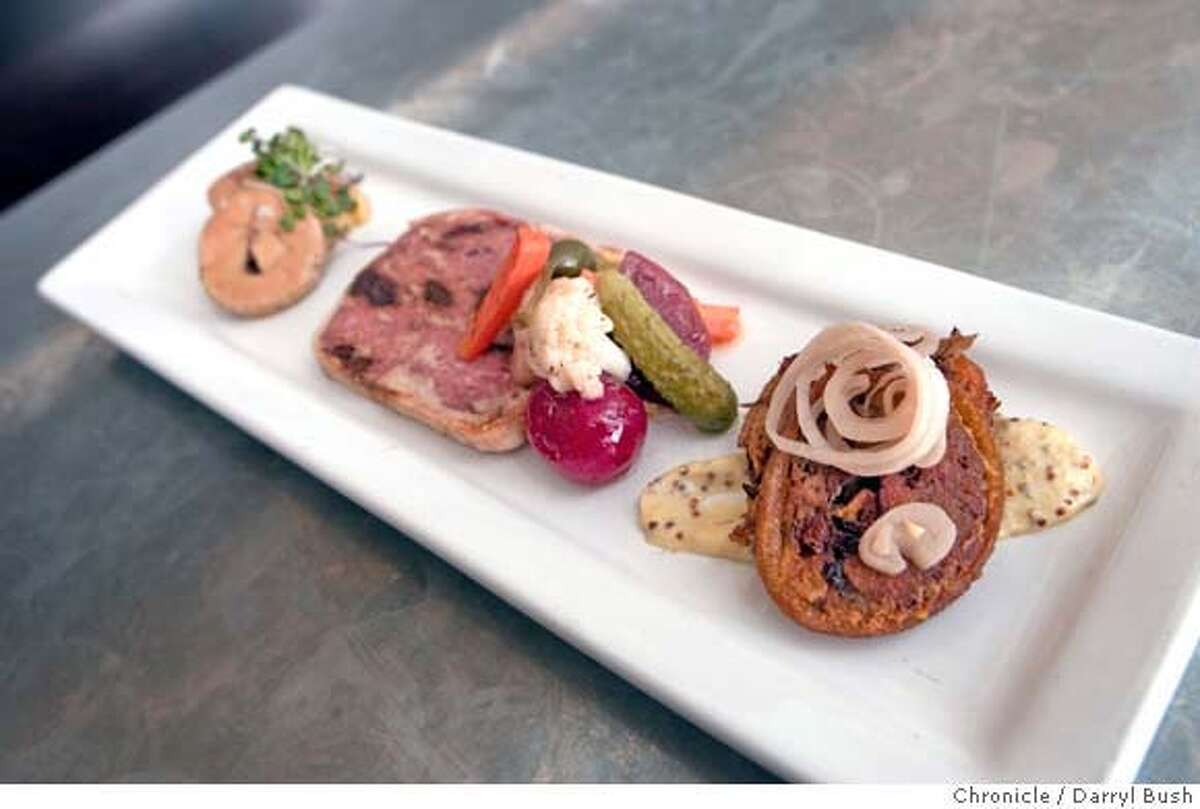 � d.20_cav_0005_db.JPG Appetizer platter with the torchon of foie gras and trotters, at CAV, a wine bar and kitchen on Market St in San Francisco, CA, on Friday, April, 27, 2007. photo taken: 4/27/07 Darryl Bush / The Chronicle ** (cq) MANDATORY CREDIT FOR PHOTOG AND SF CHRONICLE/NO SALES-MAGS OUT