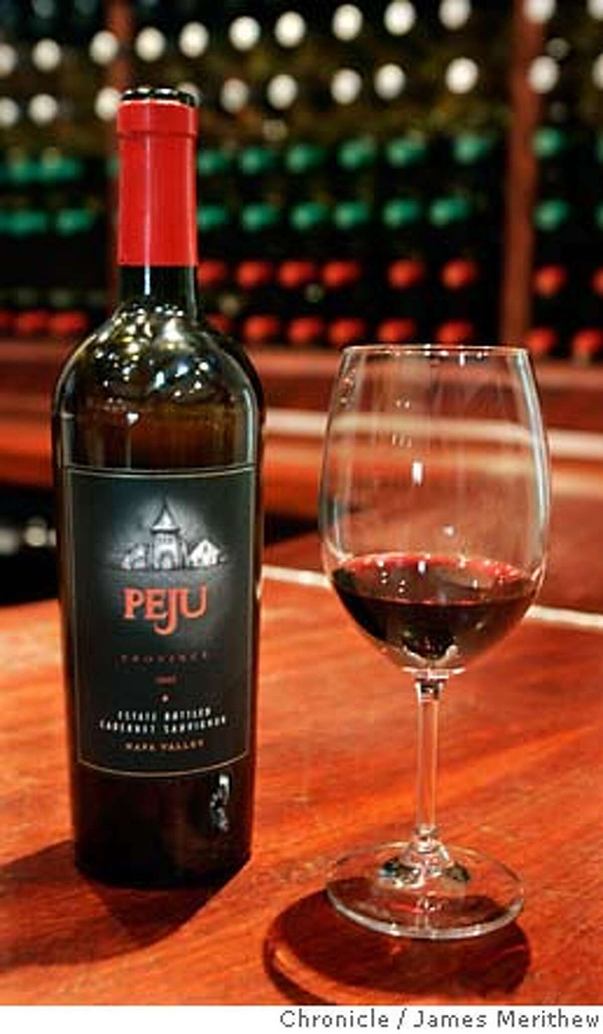 tastingroom_17NOV06_jmm0003.JPG A 2003 Cabernet Sauvignon in the tasting room at Peju. Photographs of Peju Province Winery for a tasting rooms review. The winery is located at 8466 St. Helena Highway Rutherford, CA, 94573 Jim Merithew/The Chronicle