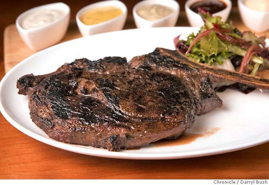 �d.10larkcreek_017_db.JPG Blackened usda prime bone-in ribeye steak at Lark Creek Steak at Westfield� San Francisco Centre in San Francisco, CA, on Thursday, November, 9, 2006. 11/9/06 Darryl Bush / The Chronicle ** (cq) MANDATORY CREDIT FOR PHOTOG AND SF CHRONICLE/ -MAGS OUT Photo: Darryl Bush