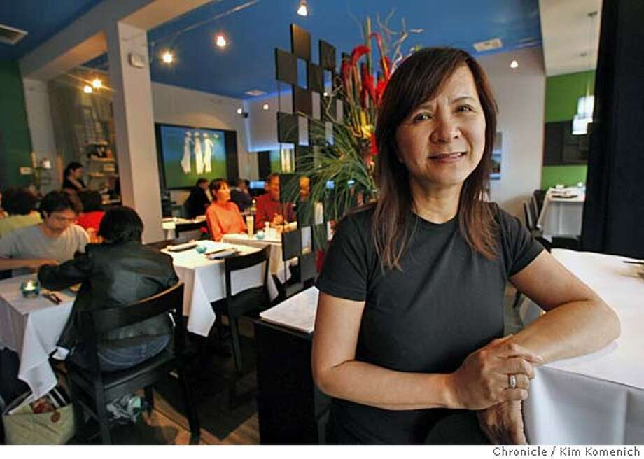 Chef and co-owner Thuy Pham is photographed in the dining area of Xanh Vietnamese Restaurant on Mountain View's Castro Street.  Kim Komenich / The Chronicle  **Thuy Pham MANDATORY CREDIT FOR PHOTOG AND SAN FRANCISCO CHRONICLE/ -MAGS OUT Photo: Kim Komenich