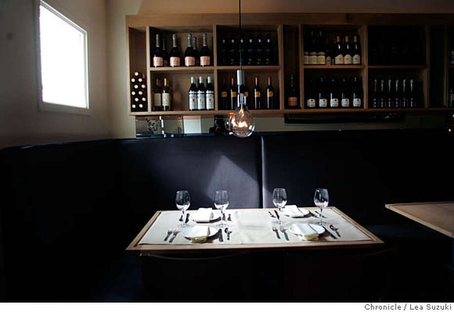 whats05_080_ls.jpg Interior of Terzo. PHOTO to arrange exact time with restaurant. Owner is Laurie: (415)956-5565. Please shoot new restaurant, Terzo, for What's New lead item, to run inside B&W. The restaurant does pan-Mediterranean small plates in a newly redesigned space in the Marina.  Dinner is served from 5:30-11 nightly, but Saturday is opening night. Sunday night would probably be best.  Photographer:� .  Photo taken on 4/3/06 in San Francisco, CA. Photo by Lea Suzuki/ The San Francisco Chronicle MANDATORY CREDIT FOR PHOTOG AND SF CHRONICLE/ -MAGS OUT. Photo: Lea Suzuki