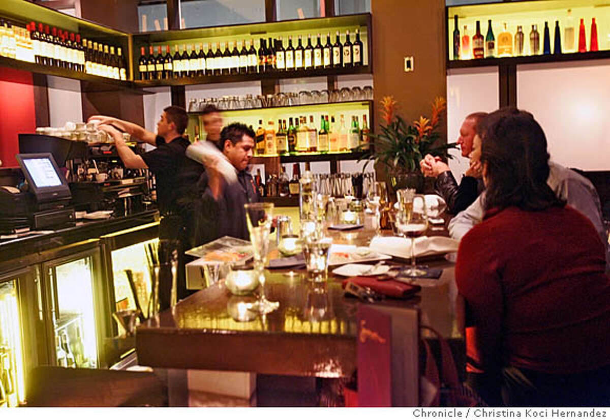 CHRISTINA KOCI HERNANDEZ/CHRONICLE Bar at Junnoon. Please shoot Junnoon, a new