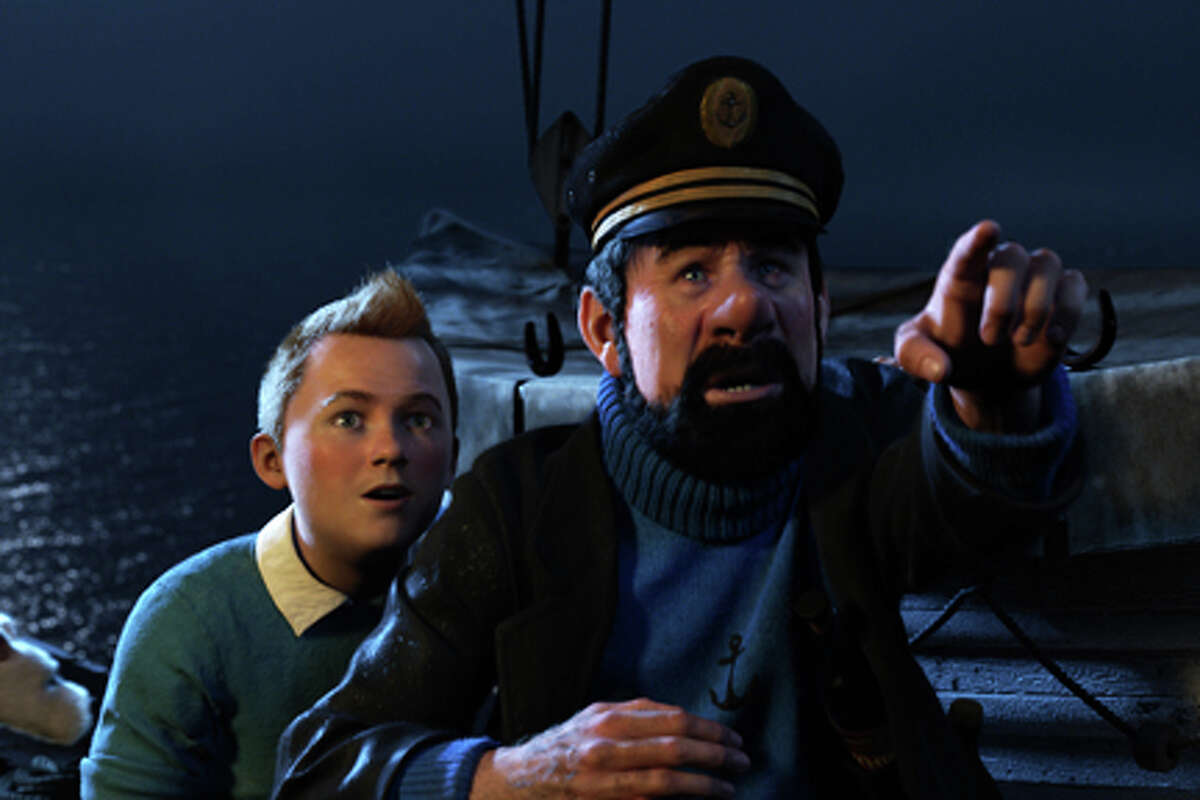 (L-R) Tintin and Captain Haddock in