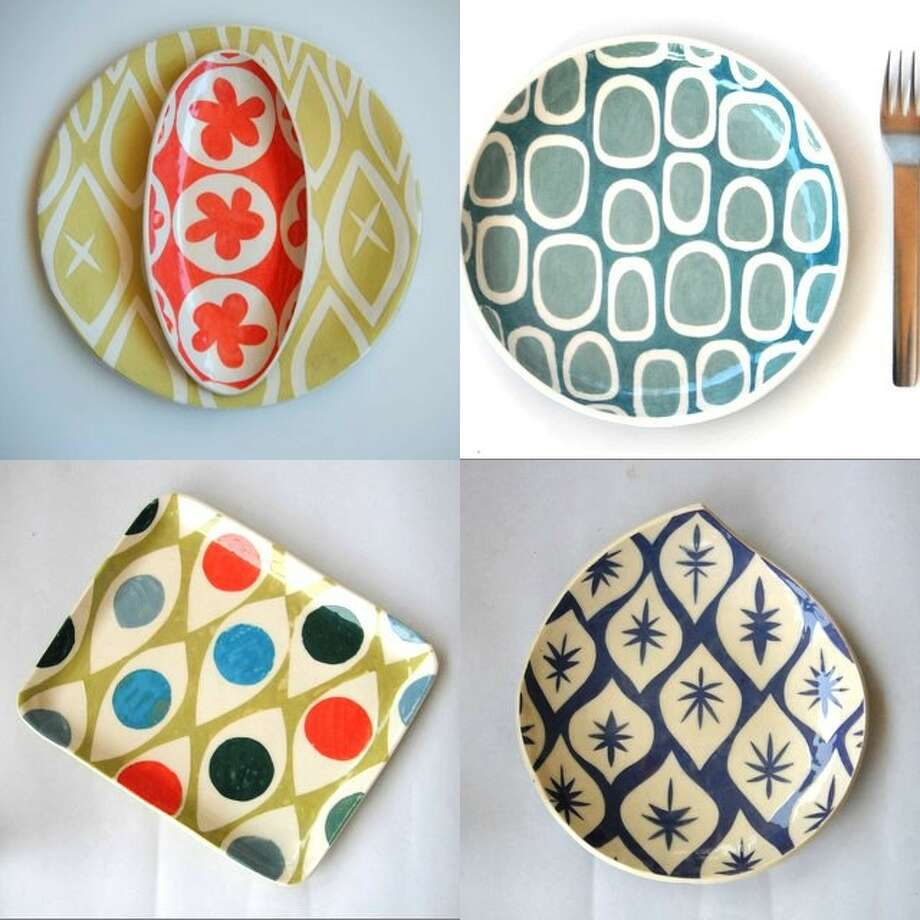 Susan Rodriguez's ceramic platters with vintage geometric designs will be part of 2011 Hecho a Mano. Photo: Courtesy Guadalupe Cultural Arts