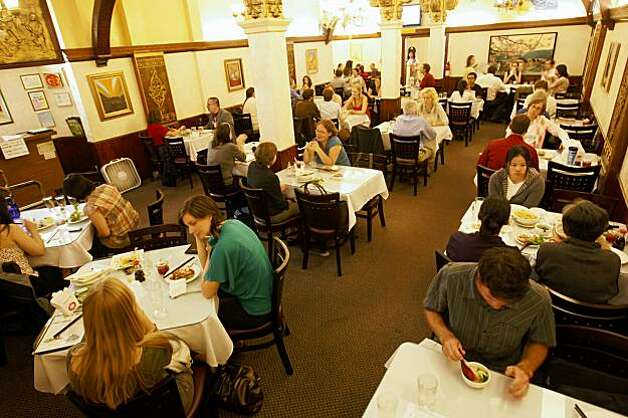 Customers enjoy lunch at  the Golden Era Vegetarian Restaurant, Monday Aug. 10, 2009, in San Francisco, Calif. Photo: Lacy Atkins, The Chronicle
