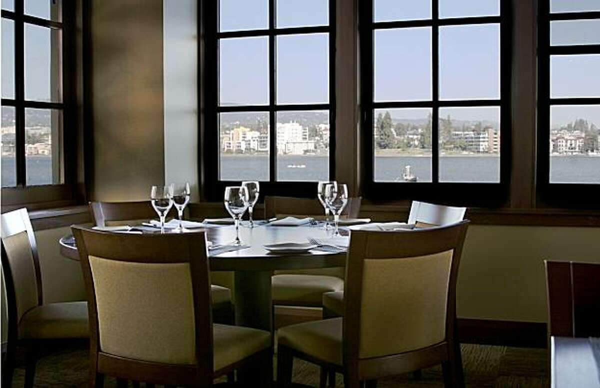 The dining room at Lake Chalet Seafood Bar & Grill, located at the Lake Merritt Boat House in Oakland.