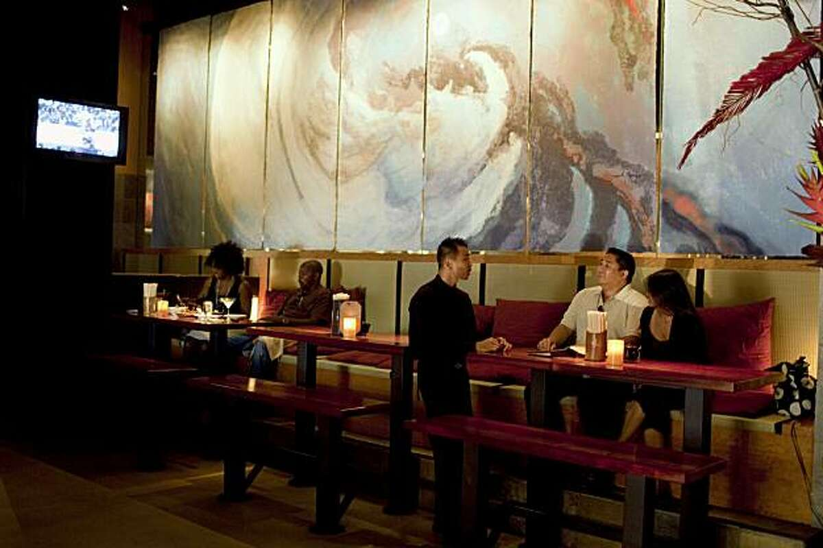 An interior view of Ozumo restaurant in Oakland, Calif. on Monday, Aug. 10, 2009.