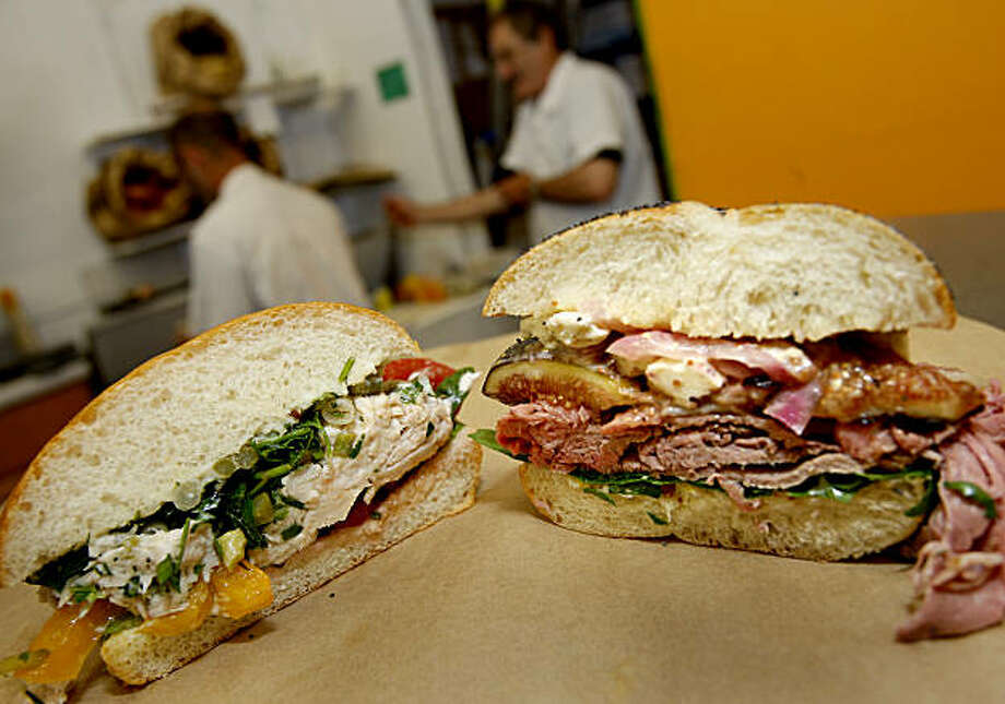 Pal's Take Away:After leaving the original location in Tony's Market on 24th Street, this gem of a sandwich shop is back in a new location just a few blocks away in a shared space with La Movida, a wine bar and pop-up incubator. Jeff Mason and Dave Knopp's inventive menu changes daily, but when it's available, the house-smoked brisket sandwich ($10) with roasted curry cherry tomatoes, spicy slaw and Russian dressing is a knockout.Vitals: 3066 24th St. (near Folsom Street, inside La Movida Wine Bar), S.F; (415) 203-4911. www.palstakeaway.com. Lunch weekdays. Photo: Brant Ward, The Chronicle