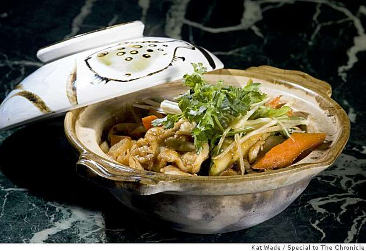 Changsha chicken clay pot is one of the most popular dishes served at Sichuan Fortune House in Pleasant Hill, Calif. on Thursday, June 4, 2009. Photo by Kat Wade / Special to the Chronicle