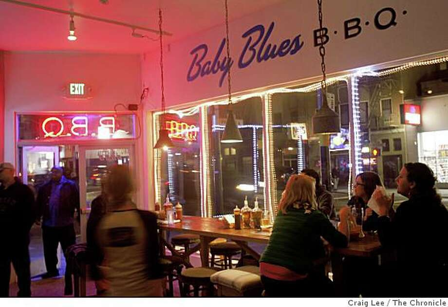 Baby Blues, a BBQ restaurant in San Francisco, Calif., on February 6, 2009. Photo: Craig Lee, The Chronicle