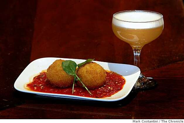 Risotto Arancini, are photographed at Zare at Fly Trap in San Francisco, Calif. on Friday, March 2, 2009 Photo: Mark Costantini, The Chronicle