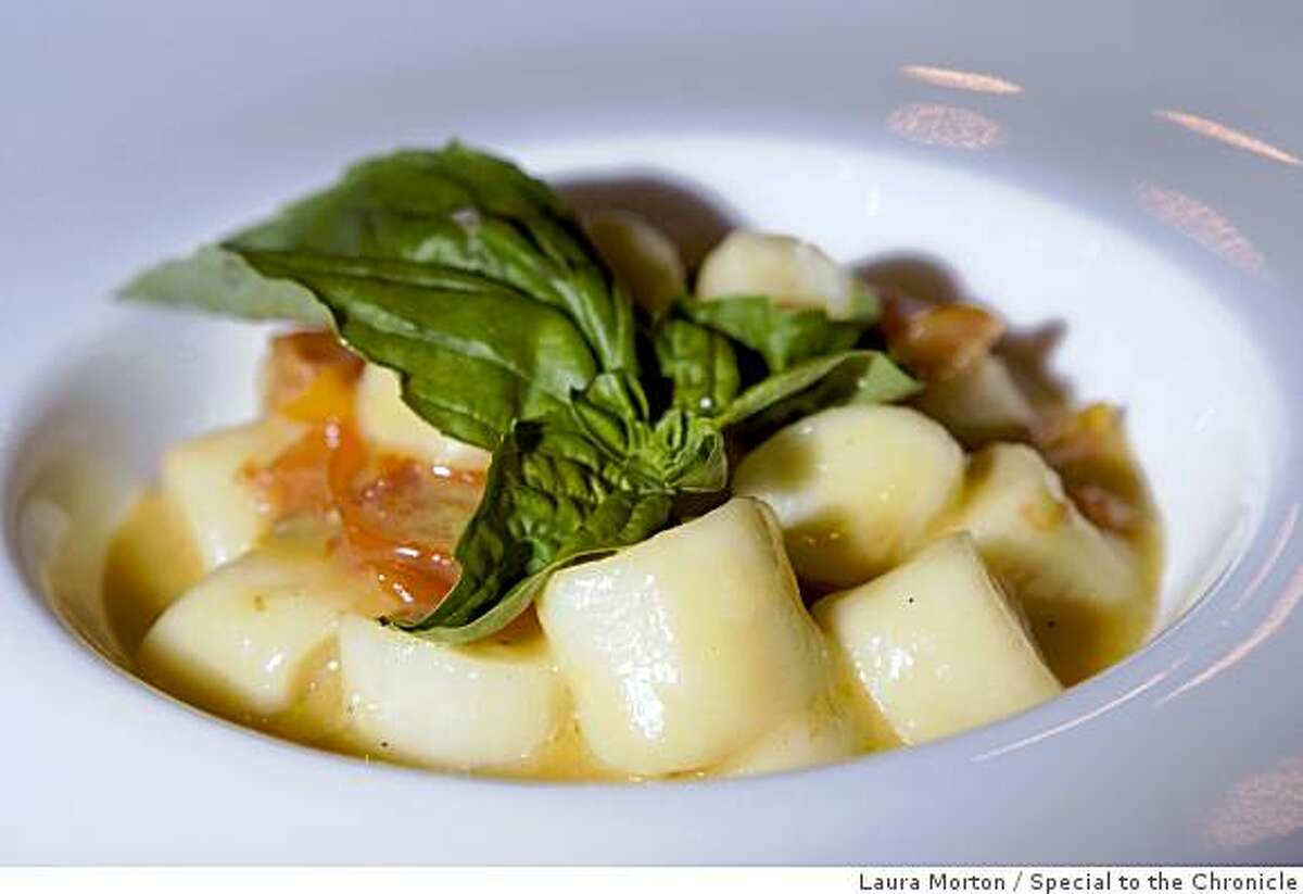 The gnocchi with orange and heirloom tomato sauce at at Poesia, an Italian restaurant in the Castro, in San Francisco , Calif., on Wednesday, November 26, 2008.