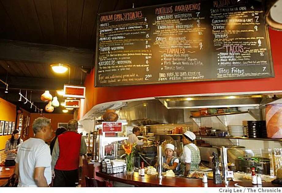 The Oaxacan Kitchen restaurant in Palo Alto, Calif., on October 14, 2008. Photo: Craig Lee, The Chronicle