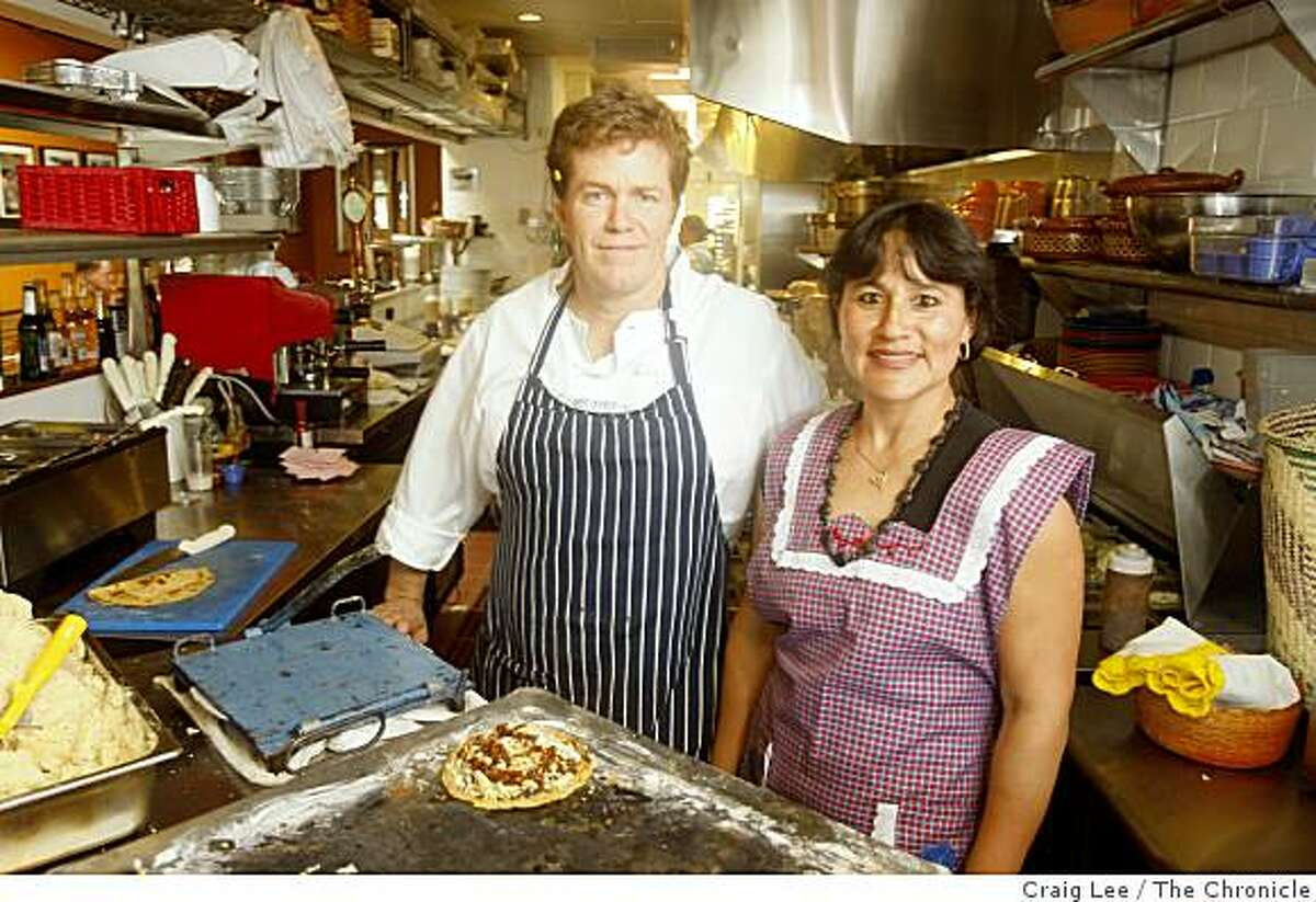 Ron Kent and his wife, Zaida Kent, chef and owners of The Oaxacan Kitchen restaurant in Palo Alto, Calif., on October 14, 2008.