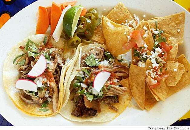 Carnitas tacos at El Metate restaurant in San Francisco, Calif., on September 22, 2008. Photo: Craig Lee, The Chronicle