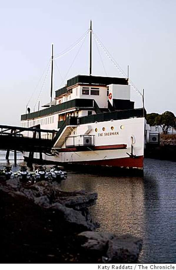 The Sherman is a boat that has been turned into a restaurant, and is docked on San Francisco Bay just south of SFO, in Burlingame, Calif. on  Wednesday Sept. 17, 2008 Photo: Katy Raddatz, The Chronicle