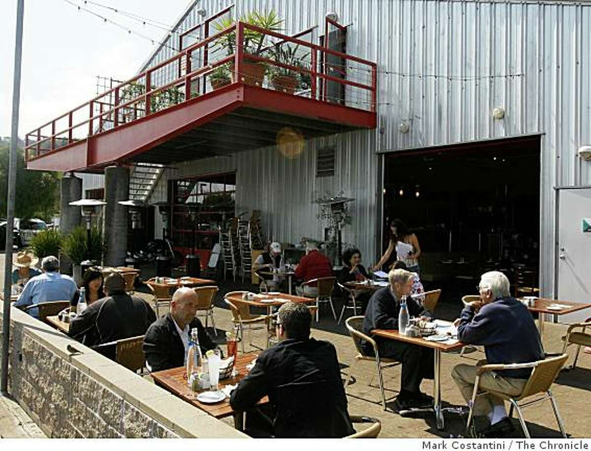 Another view of Le Garage, which is on the harbor in Sausalito.