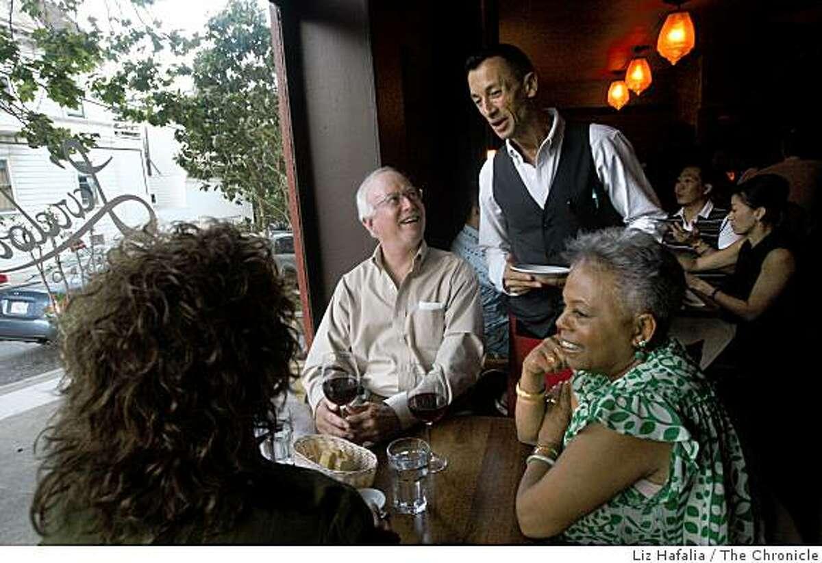 Restaurant L'Ardoise in the Duboce Triangle in San Francisco, Calif., during dinner on Thursday, September 4, 2008.