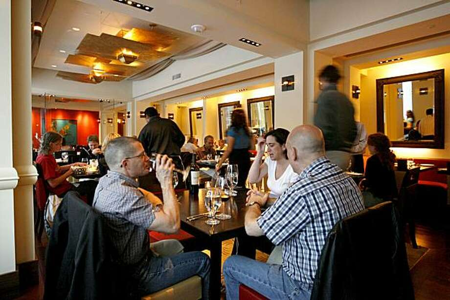 The main dining room at Amber India restaurant at 25 Yerba Buena Lane in San Francisco, Calif. on Tuesday, August 12, 2008. Photo: Katy Raddatz, The Chronicle