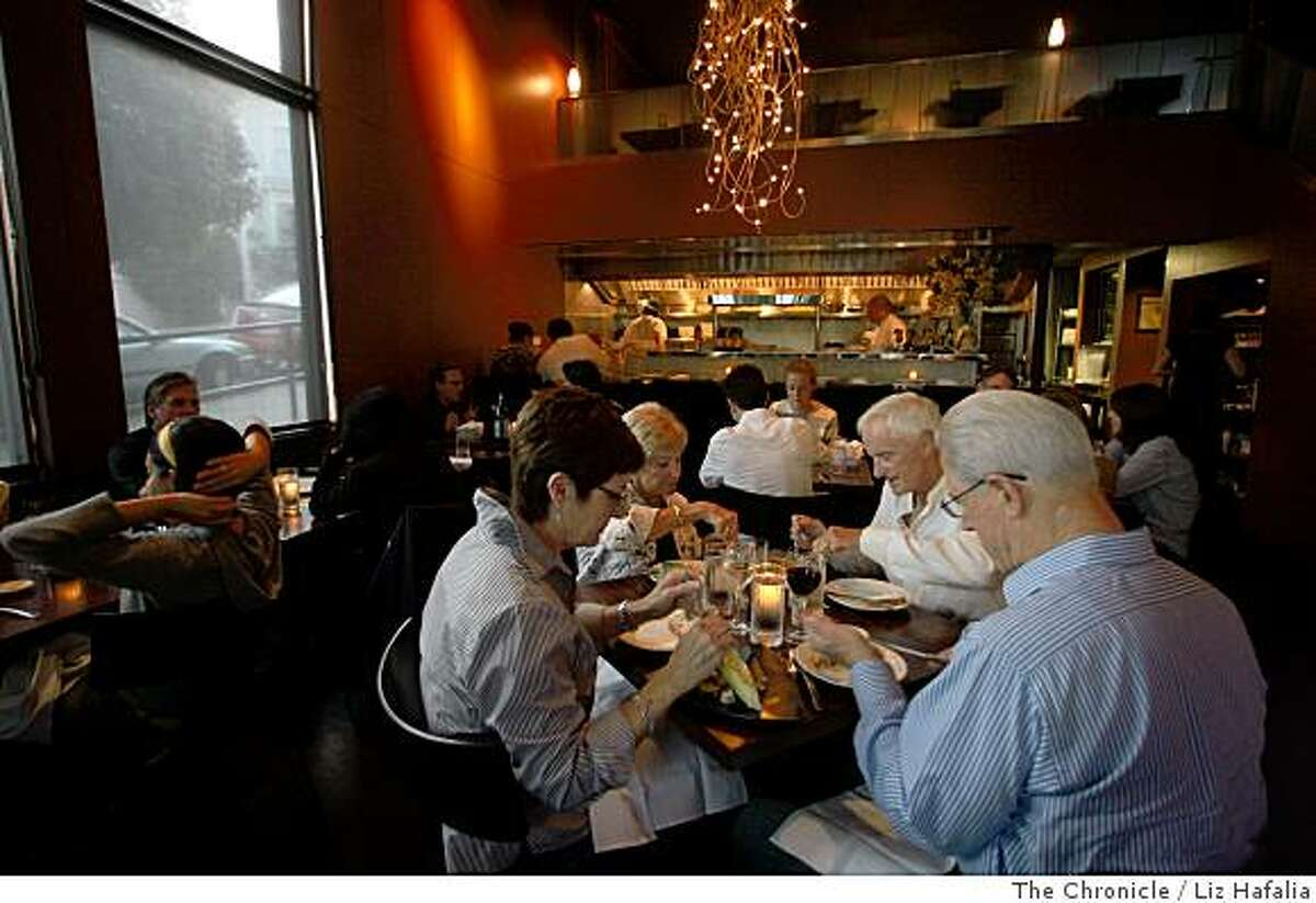 RNM restaurant as clientele are being served during the dinner hour in San Francisco, Calif., on Thursday, July 10, 2008. Photo by Liz Hafalia/The Chronicle