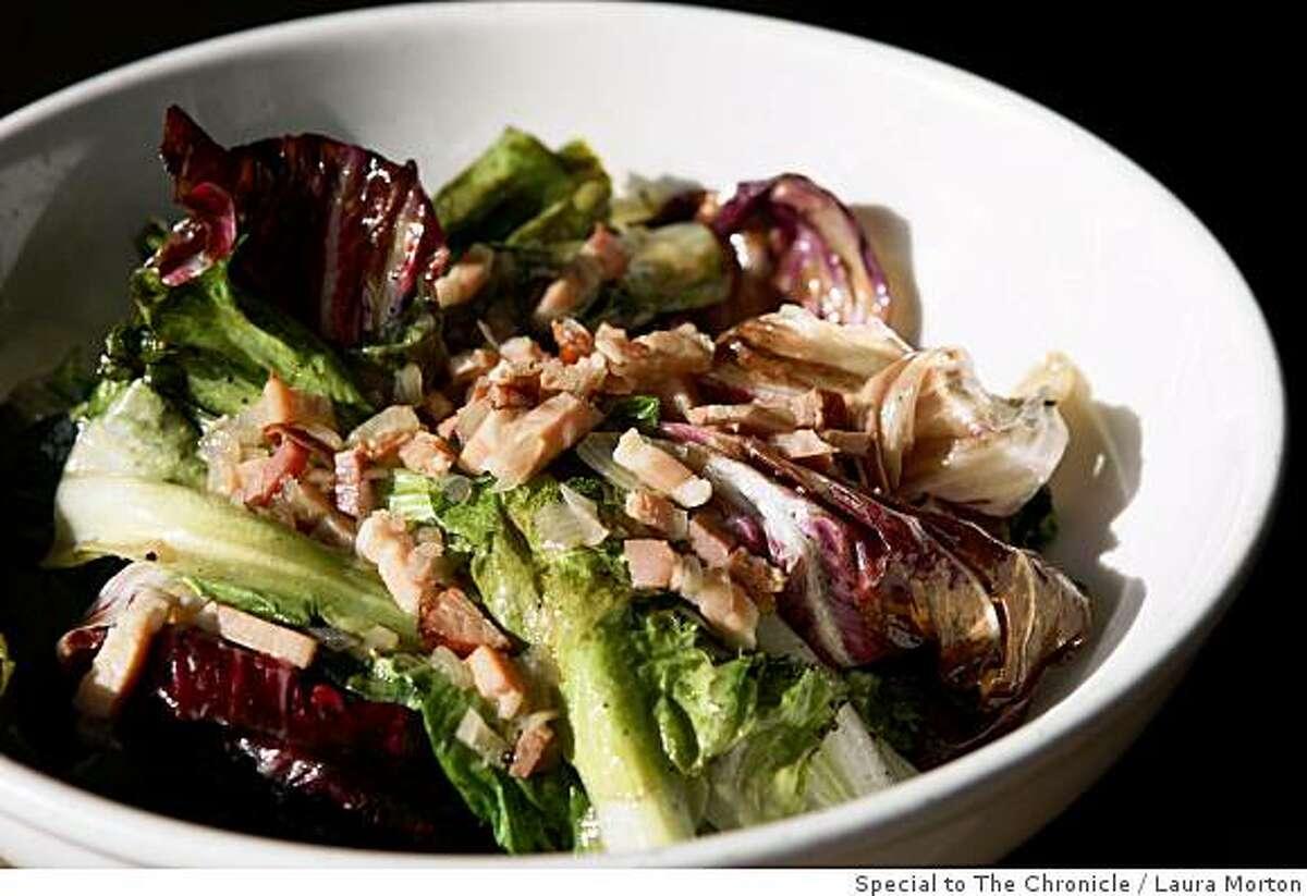 The warm radicchio salad at Beretta, a Mission District restaurant, in San Francisco, Calif., on Saturday, June 14, 2008.