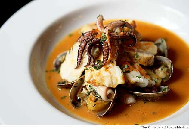 The monkfish stew at Chez Papa Resto, a new restaurant in the Mint Plaza, in San Francisco, Calif., on Friday, May 30, 2008. Photo: Laura Morton, The Chronicle