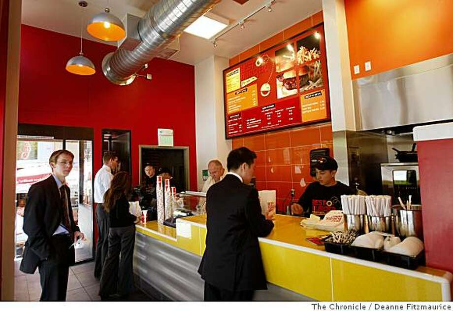 Best-O-Burger is a new take-out lunch place in the financial district in San Francisco, Calif. on June 9, 2008.  Photo by Deanne Fitzmaurice / The Chronicle Photo: Deanne Fitzmaurice, The Chronicle