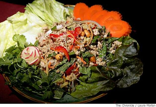 The ground pork appetizer at Angkor Borei, a Mission District Cambodian restaurant in San Francisco, Calif., on Friday, May 30, 2008. Photo: Laura Morton, The Chronicle