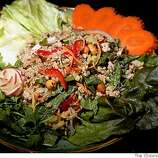 The ground pork appetizer at Angkor Borei, a Mission District Cambodian restaurant in San Francisco, Calif., on Friday, May 30, 2008.