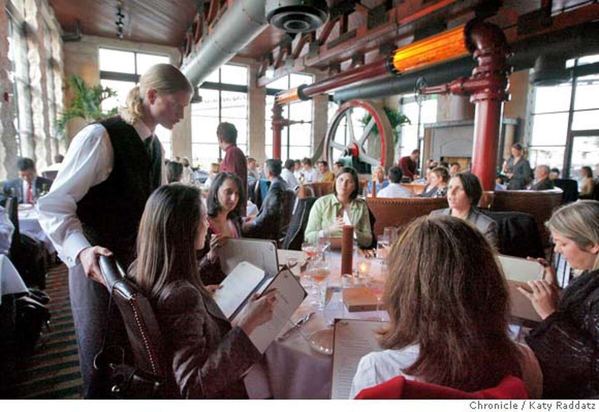 The dining room at Epic Roasthouse, one of two new restaurants opened recently by Pat Kuleto on San Francisco's Embarcadero; in San Francisco, Calif. on Wednesday March 19, 2008. Photo by Katy Raddatz / San Francisco Chronicle