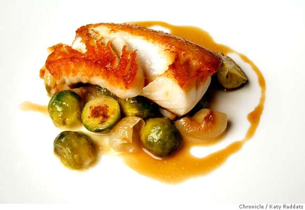 The sauteed sablefish served at Fish&Farm, a restaurant in San Francisco, Calif. that only uses products obtained within a hundred mile radius of San Francisco, on Wednesday, Feb. 27, 2008. Photo by Katy Raddatz / The Chronicle