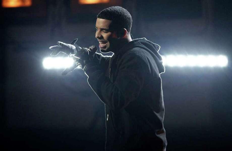 Drake's sophomore album, Take Care, is a star-studded affair. Photo: Matt Sayles, ASSOCIATED PRESS / AP