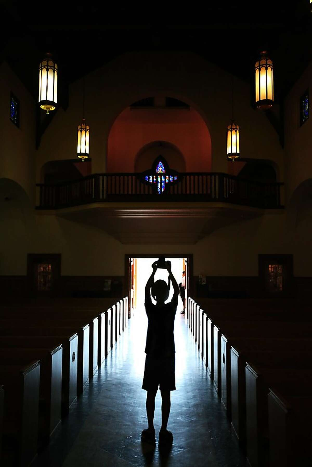 The interior of the main cathedral at the Mission San Rafael Arcangel in San Rafael, CALIF on Sept. 24, 2011.