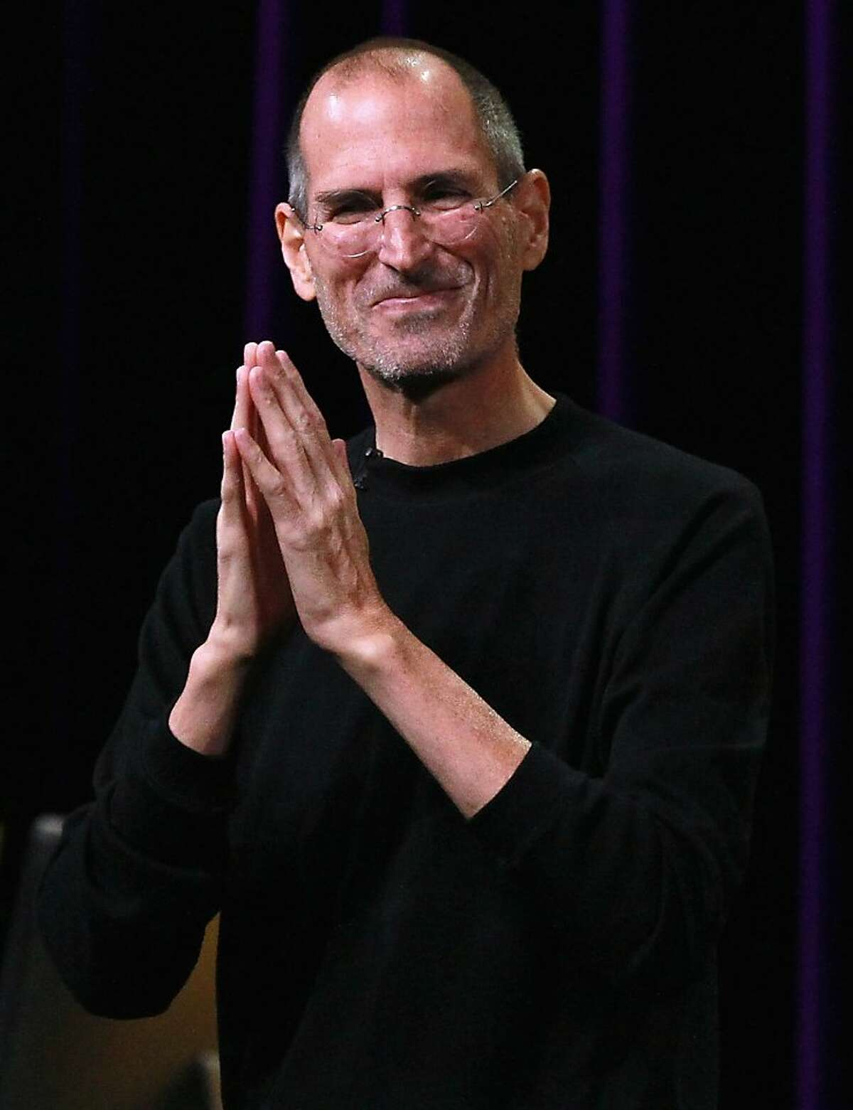 SAN FRANCISCO - FILE: Apple CEO Steve Jobs speaks at an Apple Special Event at the Yerba Buena Center for the Arts September 1, 2010 in San Francisco, California. Its been reported that Steve Jobs has resigned as the CEO of Apple August 24, 2011. (Photo by Justin Sullivan/Getty Images) Ran on: 08-25-2011 Photo caption Dummy text goes here. Dummy text goes here. Dummy text goes here. Dummy text goes here. Dummy text goes here. Dummy text goes here. Dummy text goes here. Dummy text goes here.###Photo: edit25_jobs_PH1314057600Getty Images North America###Live Caption:SAN FRANCISCO - FILE: Apple CEO Steve Jobs speaks at an Apple Special Event at the Yerba Buena Center for the Arts September 1, 2010 in San Francisco, California. Its been reported that Steve Jobs has resigned as the CEO of Apple August 24, 2011.###Caption History:SAN FRANCISCO - FILE: Apple CEO Steve Jobs speaks at an Apple Special Event at the Yerba Buena Center for the Arts September 1, 2010 in San Francisco, California. Its been reported that Steve Jobs has resigned as the CEO of Apple August 24, 2011. (Photo by Justin Sullivan-Getty Images)###Notes:FILE: Steve Jobs Resigns As CEO of Apple###Special Instructions:(FILE) Ran on: 08-25-2011 Photo caption Dummy text goes here. Dummy text goes here. Dummy text goes here. Dummy text goes here. Dummy text goes here. Dummy text goes here. Dummy text goes here. Dummy text goes here.###Photo: edit25_jobs_PH1314057600Getty Images North America###Live Caption:SAN FRANCISCO - FILE: Apple CEO Steve Jobs speaks at an Apple Special Event at the Yerba Buena Center for the Arts September 1, 2010 in...