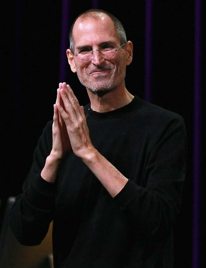 SAN FRANCISCO - FILE: Apple CEO Steve Jobs speaks at an Apple Special Event at the Yerba Buena Center for the Arts September 1, 2010 in San Francisco, California. Its been reported that Steve Jobs has resigned as the CEO of Apple August 24, 2011. (Photo by Justin Sullivan/Getty Images)  Ran on: 08-25-2011 Photo caption Dummy text goes here. Dummy text goes here. Dummy text goes here. Dummy text goes here. Dummy text goes here. Dummy text goes here. Dummy text goes here. Dummy text goes here.###Photo: edit25_jobs_PH1314057600Getty Images North America###Live Caption:SAN FRANCISCO - FILE: Apple CEO Steve Jobs speaks at an Apple Special Event at the Yerba Buena Center for the Arts September 1, 2010 in San Francisco, California. Its been reported that Steve Jobs has resigned as the CEO of Apple August 24, 2011.###Caption History:SAN FRANCISCO - FILE: Apple CEO Steve Jobs speaks at an Apple Special Event at the Yerba Buena Center for the Arts September 1, 2010 in San Francisco, California. Its been reported that Steve Jobs has resigned as the CEO of Apple August 24, 2011. (Photo by Justin Sullivan-Getty Images)###Notes:FILE: Steve Jobs Resigns As CEO of Apple###Special Instructions:(FILE) Ran on: 08-25-2011 Photo caption Dummy text goes here. Dummy text goes here. Dummy text goes here. Dummy text goes here. Dummy text goes here. Dummy text goes here. Dummy text goes here. Dummy text goes here.###Photo: edit25_jobs_PH1314057600Getty Images North America###Live Caption:SAN FRANCISCO - FILE: Apple CEO Steve Jobs speaks at an Apple Special Event at the Yerba Buena Center for the Arts September 1, 2010 in San Francisco, California. Its been reported that Steve Jobs has resigned as the CEO of Apple August 24, 2011.###Caption History:SAN FRANCISCO - FILE: Apple CEO Steve Jobs speaks at an Apple Special Event at the Yerba Buena Photo: Justin Sullivan, Getty Images