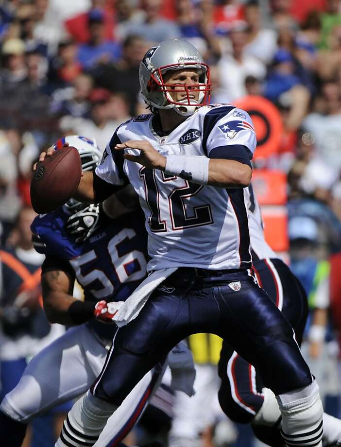 New England Patriots' Tom Brady throws against the Buffalo Bills during the second half of an NFL football game in Orchard Park, N.Y., Sunday, Sept. 25, 2011. (AP Photo/Gary Wiepert) Photo: Gary Wiepert, AP
