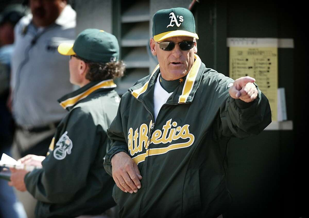 ATHLETICS8-c-28APR02-SP-SS The A's manager Art Howe makes some moves during the A's game vs the Chicago White Sox, Sunday, April 28th, 2002. He was directing some bench players to get into the game in the 9th inning due to the lopsided score in order to give some of his starters a rest. The A's won the game 10-0. (SF CHRONICLE PHOTO BY SCOTT SOMMERDORF) Ran on: 09-18-2011 Then-manager Art Howe occasionally chafed under Moneyball strategies and notes that they haven't produced winners lately. Ran on: 09-18-2011 Then-manager Art Howe occasionally chafed under Moneyball strategies and notes that they haven't produced winners lately.