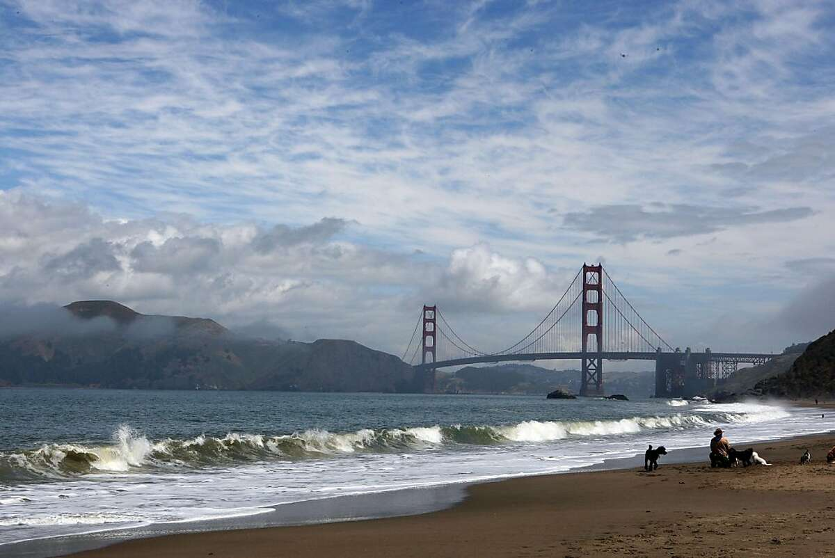 Baker Beach at the bridge side of the beach in San Francisco, Calif., had a higher score in contrast to the Lobos Creek side of the beach from the Heal the Bay report card on Tuesday, May 25, 2010. Ran on: 05-27-2010 Baker Beach at the bridge end had a higher rating than where Lobos Creek meets the waterfront, one of the worst spots in the Bay Area. Ran on: 05-27-2010 Baker Beach at the bridge end had a higher rating than where Lobos Creek meets the waterfront, one of the worst spots in the Bay Area.