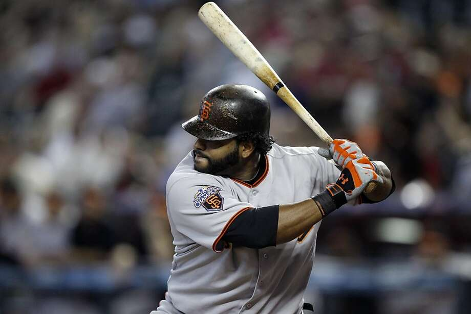 San Francisco Giants' Pablo Sandoval against the Arizona Diamondbacks in an MLB baseball game Sunday, Sept. 25, 2011, in Phoenix.(AP Photo/Paul Connors) Photo: Paul Connors, AP