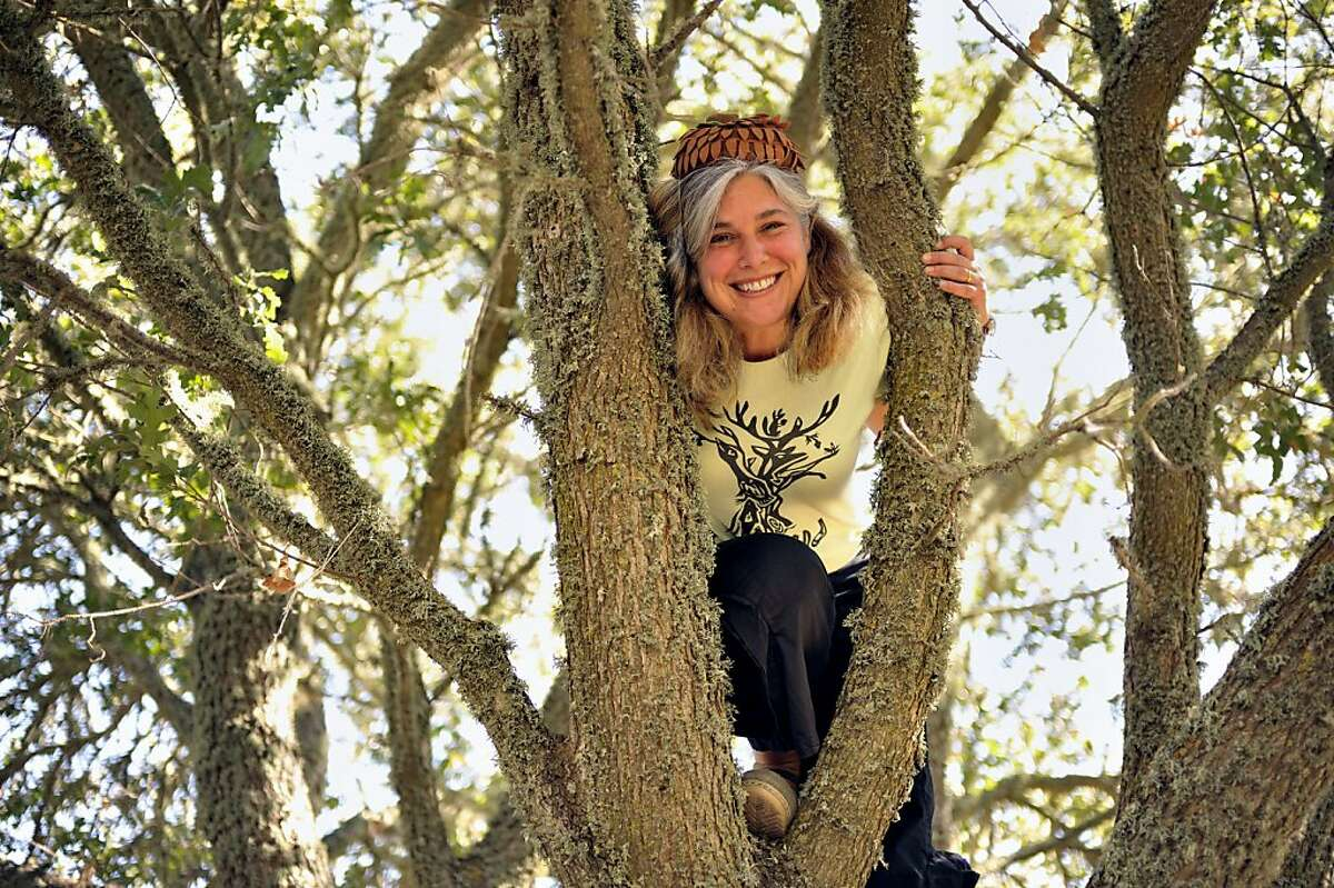 Jolie Lonner Egert is an ethnobiologist who has been studying and teaching the use of acorns for food. She teaches a class for adults and children at Hidden Villa Ranch in Los Altos to show people how to properly prepare the nuts for eating.