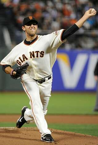 SAN FRANCISCO, CA - SEPTEMBER 27: Madison Bumgarner #40 pitches against the Colorado Rockies during an MLB baseball game at AT&T Park on September 27, 2011 in San Francisco, California.  (Photo by Thearon W. Henderson/Getty Images) Photo: Thearon W. Henderson, Getty Images