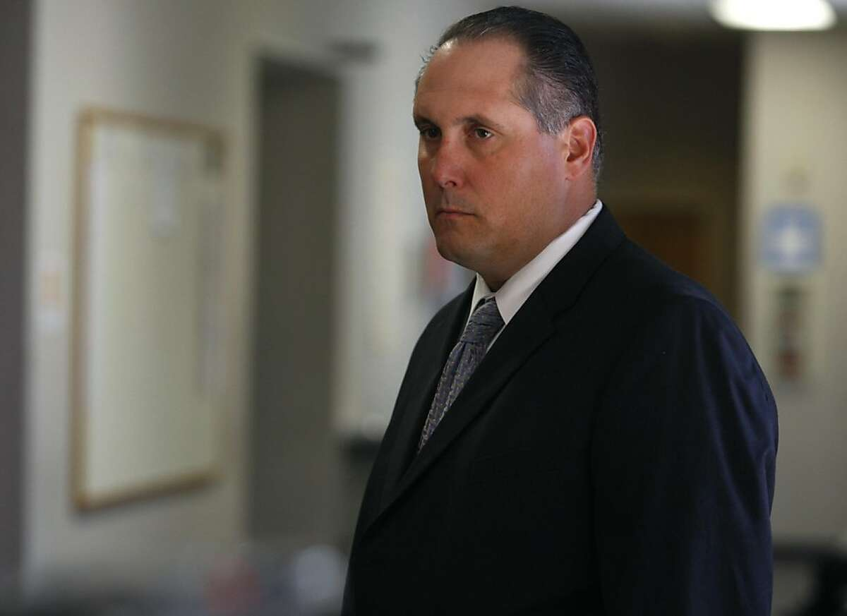 Defendant Louis Lombardi waits in the hallway outside a courtroom at Contra Costa County Superior Court after appearing for a proceeding in his law enforcement abuse of power case in Walnut Creek, Calif. on Thursday, May 19, 2011. Ran on: 09-28-2011 Louis Lombardi was in court in May in connection with charges he faces in a police corruption case. He was released on bond Tuesday in an unrelated case. Ran on: 09-28-2011 Louis Lombardi was in court in May in connection with charges he faces in a police corruption case. He was released on bond Tuesday in an unrelated case.