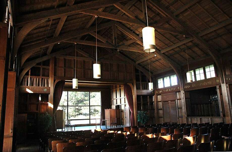 Asilomar -- Julia Morgan's Grace H. Dodge Chapel Auditorium.   Christine Delsol/Special to The Chronicle   ONE-TIME USE ONLY Contact photographer for reuse Photo: Christine Delsol