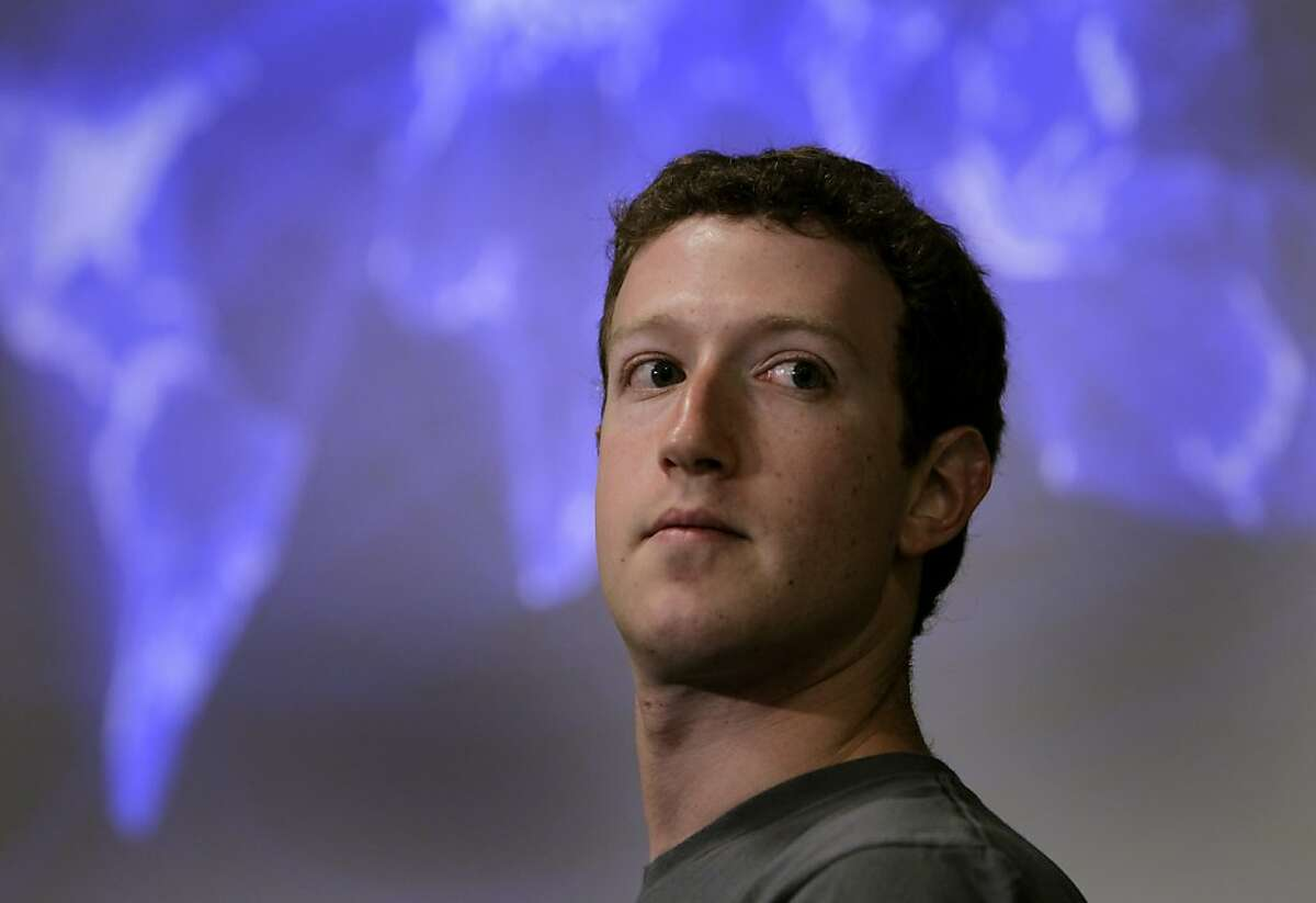 Facebook CEO Mark Zuckerberg introduces a new video conferencing feature on Facebook using Skype technology at the social network's headquarters on Wednesday, July 6, 2011 in Palo Alto, Calif.