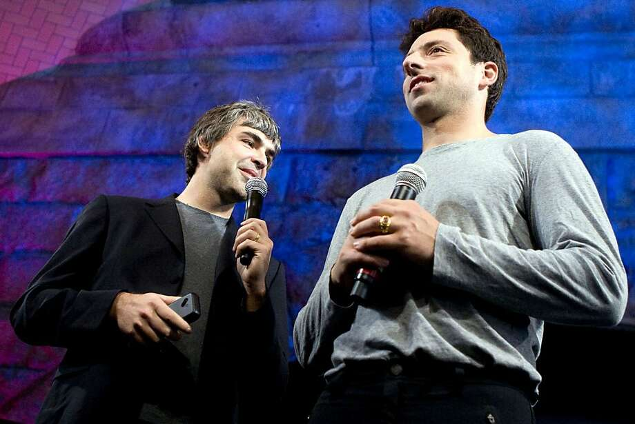 Google co-founders Larry Page (left) and Sergey Brin number among the 46 million Americans who are members of Generation X. Illustrates GENX (category a), by Dune Lawrence and Nora Zimmett (c) 2011, Bloomberg News. Moved Saturday, Sept. 17, 2011. (MUST CREDIT: Bloomberg News photo by JB Reed.) Photo: JB Reed, Bloomberg News