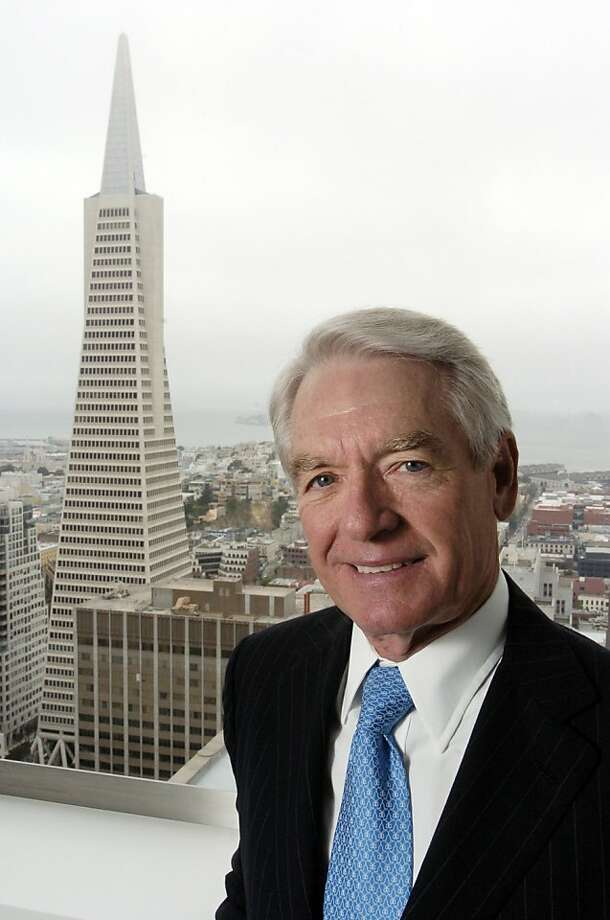 Charles Schwab, chairman, chief executive officer and founder, Charles Schwab Corp., stands near a window overlooking the Trans America building in San Francisco, California, on Friday, May 11, 2007. Photographer: Erin Lubin/Bloomberg News.  Ran on: 04-10-2008 Charles Schwab, the firm's founder, chairman and CEO, stands near a window that overlooks the Transamerica Pyramid. Photo: Erin Lubin, Bloomberg News