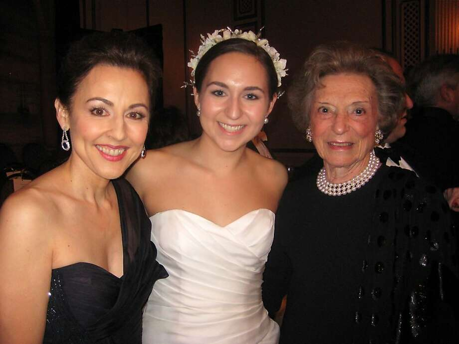 Sako Fisher (left) with her daughter, debutante Remy Fisher and her mother-in-law, Doris Fisher. December 2010. By Catherine Bigelow.     Ran on: 12-26-2010 Sako Fisher (left) with her daughter, Remy Fisher, and Doris Fisher. Photo: Catherine Bigelow, Special To The Chronicle